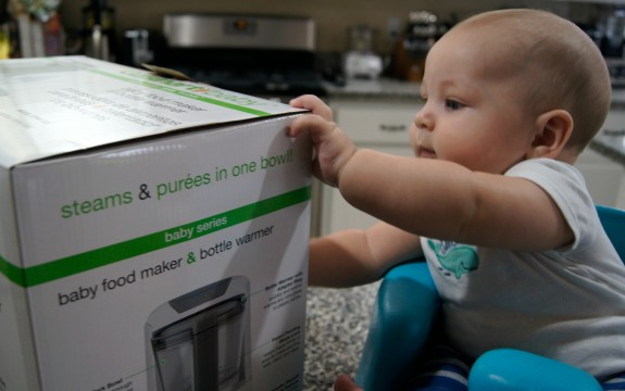 Zac with Cuisinart Baby Food Maker and Bottle Warmer