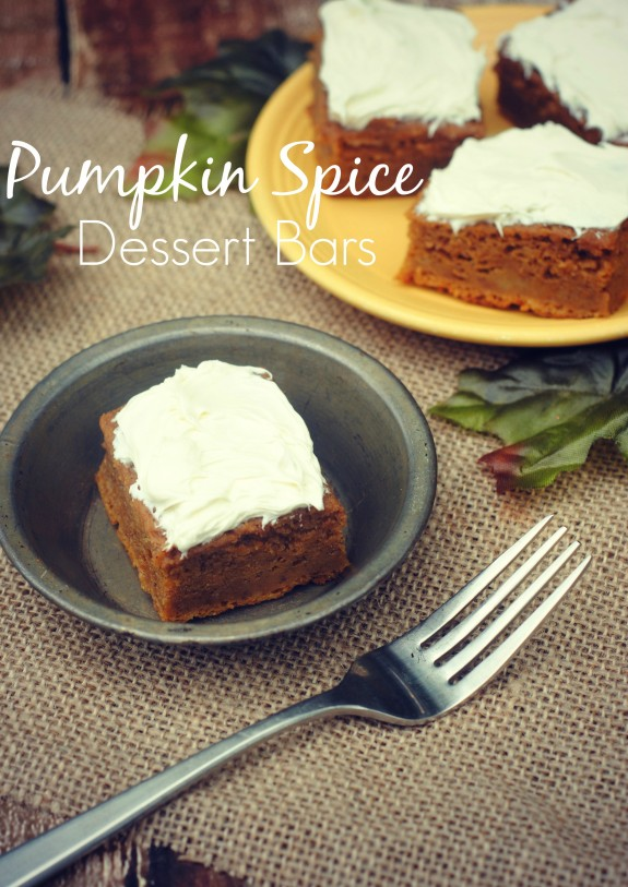 Pumpkin Spice Dessert Bars- a great Thanksgiving dessert idea!