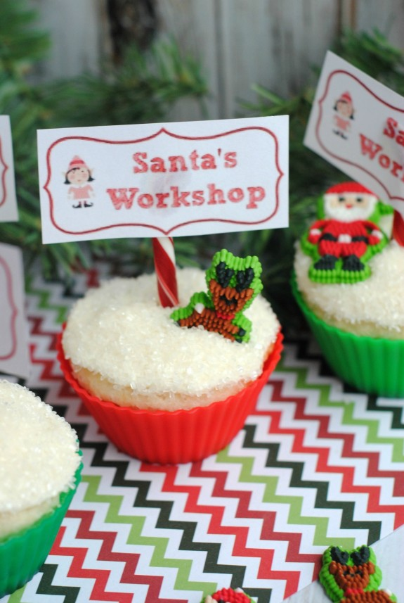 Easy Christmas Baking Idea Santa's Workshop Cupcakes!