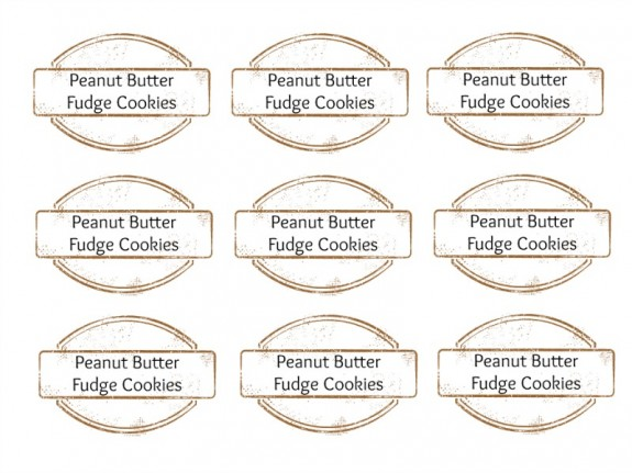 Free Printable- DIY Peanut Butter Fudge Cookie Mix in a Jar DIY Gift Idea