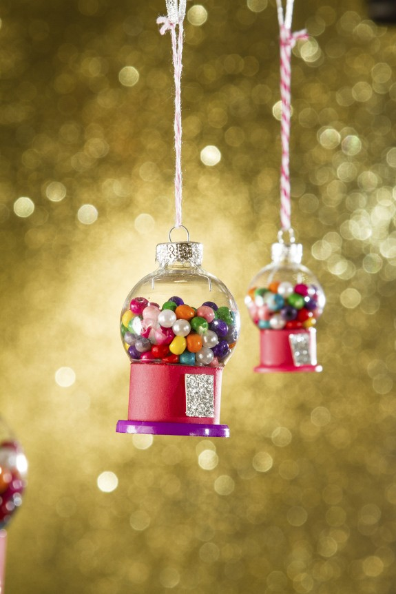 petite gumball machines diy christmas ornament craft for kids