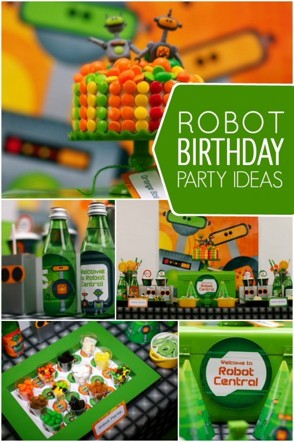 Robot Birthday Party Ideas and Inspiration