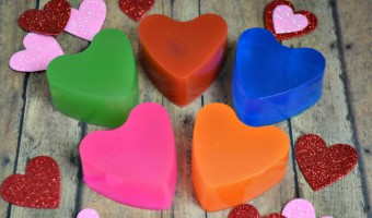 Homemade Soap Valentine's Day Cards {with Free Printable!}
