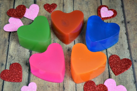 Homemade Soap Valentine's Day Cards with Free Printable