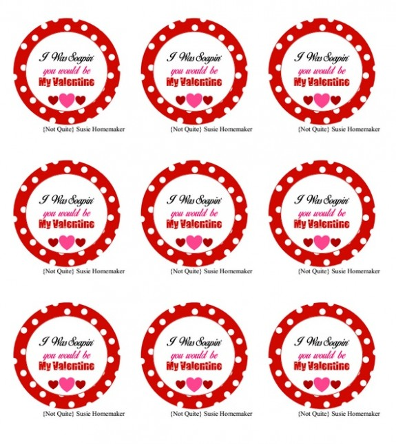photo regarding Valentines Free Printable titled Selfmade Cleaning soap Valentines Working day Playing cards with Absolutely free Printable