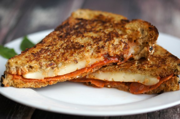 Pizza Grilled Cheese featuring Arla Dofino Cheese!