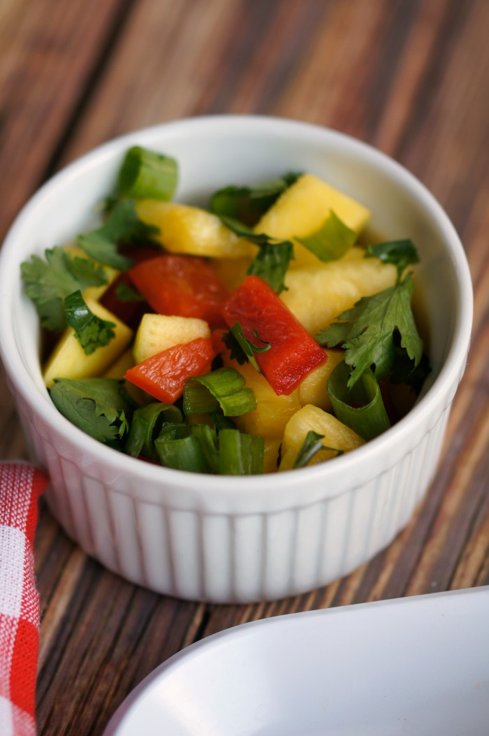 Pineapple Mango Salsa- put it on a burger for a fresh and yummy Paleo dinner perfect for summer or anytime!