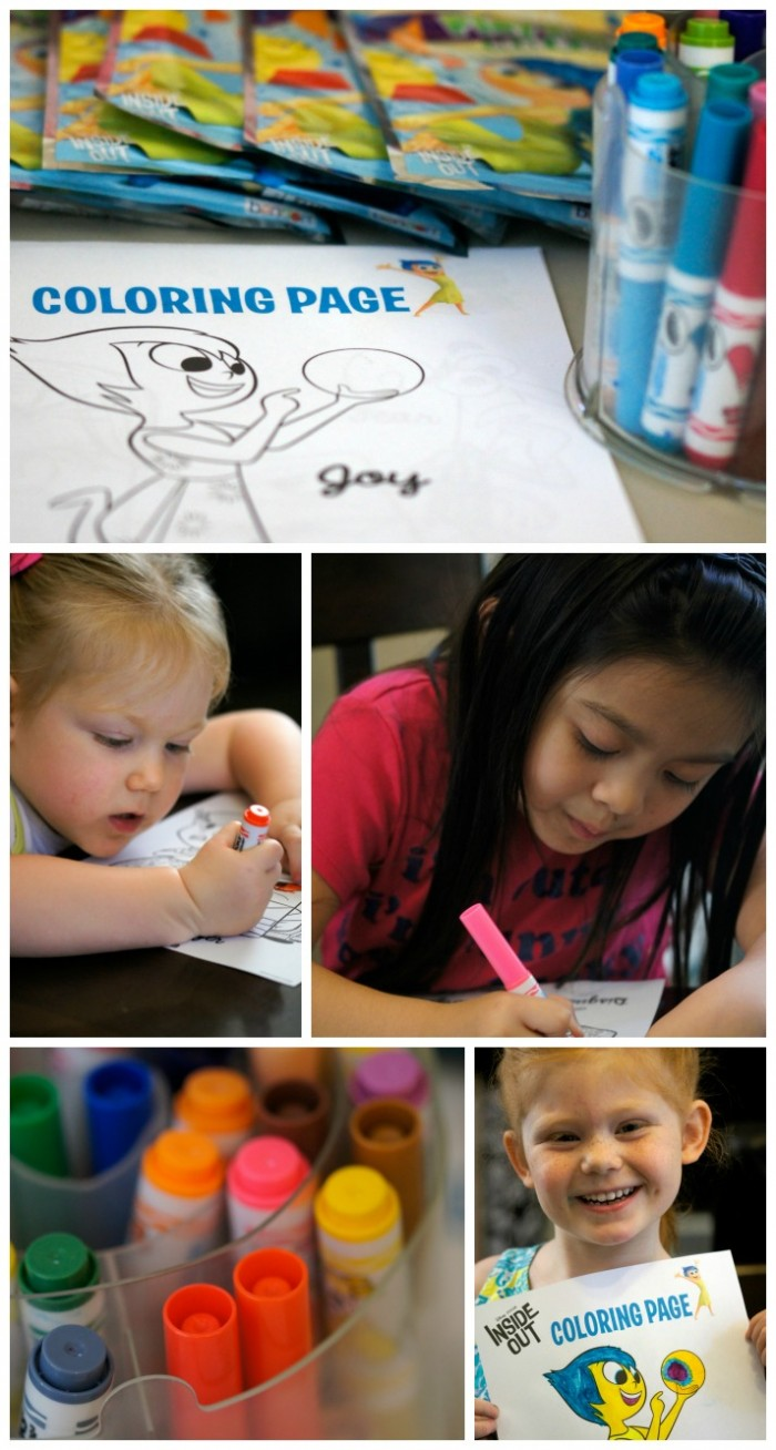 Coloring at our Inside Out Party! #InsideOutEmotions #Ad