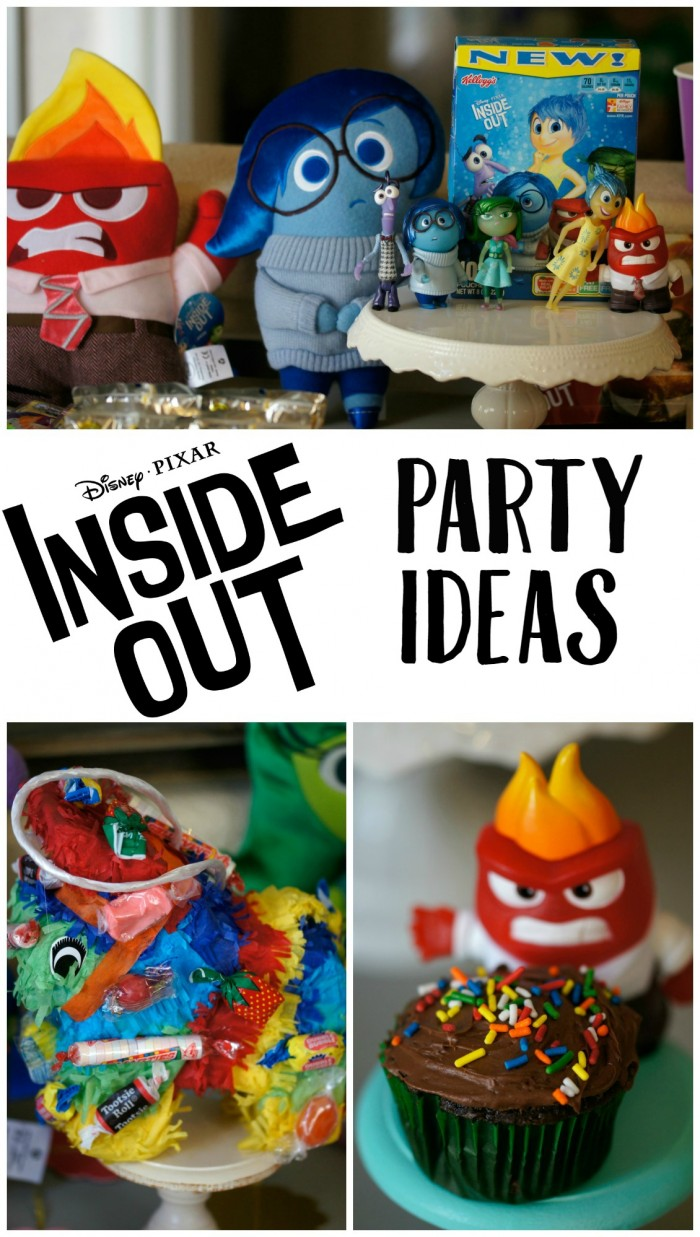 Inside Out Party Ideas Inside Out Pinatas Cupcakes and More