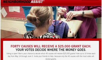 Help Decide Who Gets $25,000 from the State Farm Neighborhood Assist Program!