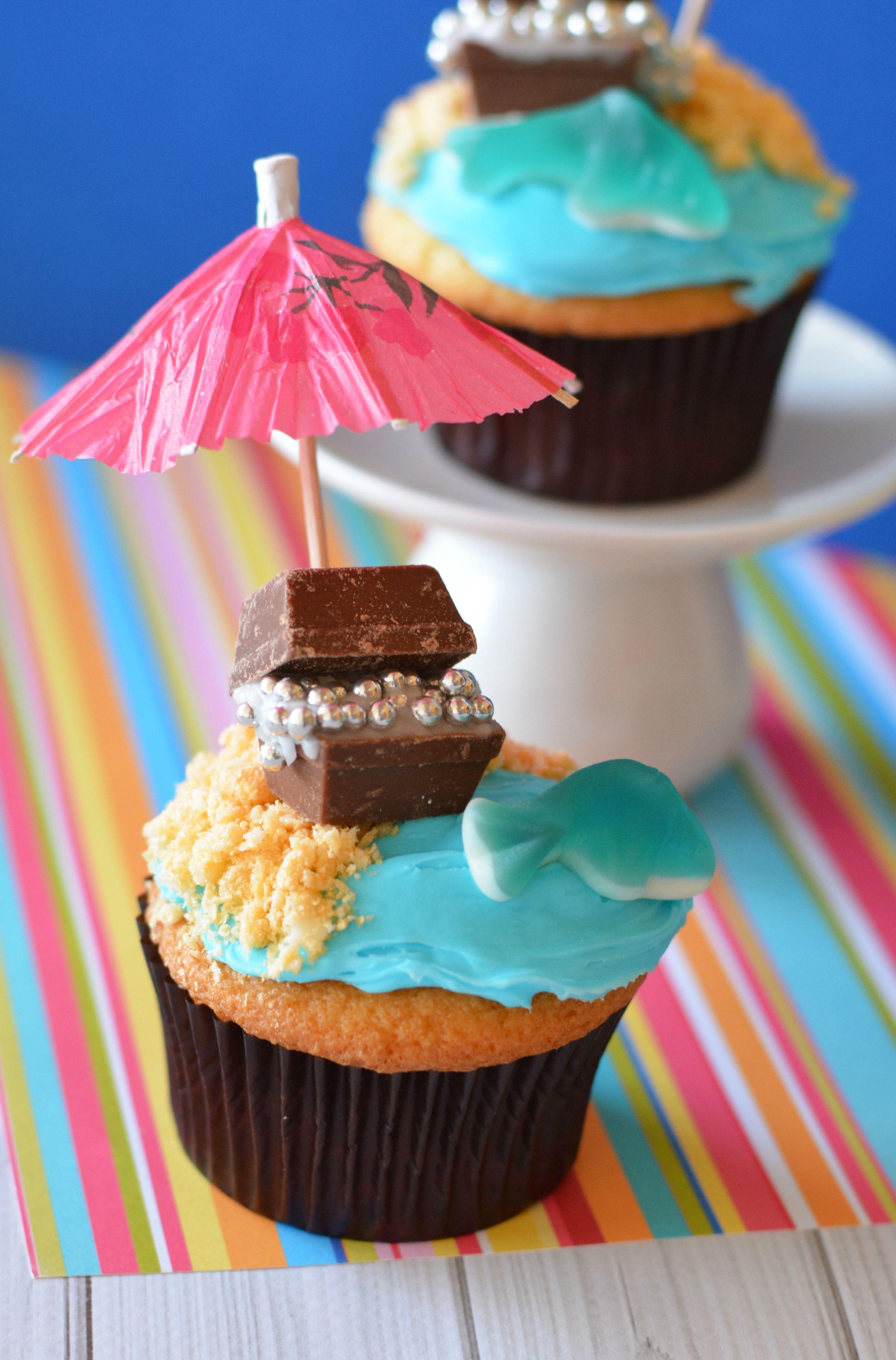 Treasure Chest Beach Cupcakes Recipe Not Quite Susie