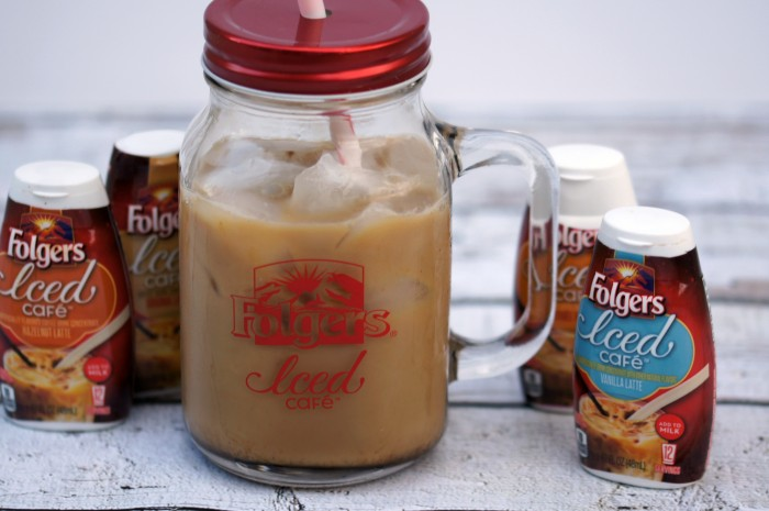 Folgers Iced Cafe Concentrates allow you to make iced coffee at home or on the go!