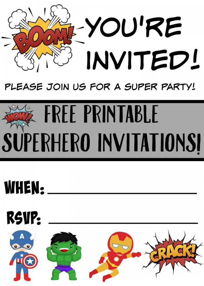 photograph relating to Printable Superhero Invitations called Free of charge Printable Superhero Birthday Invites - Not Extremely