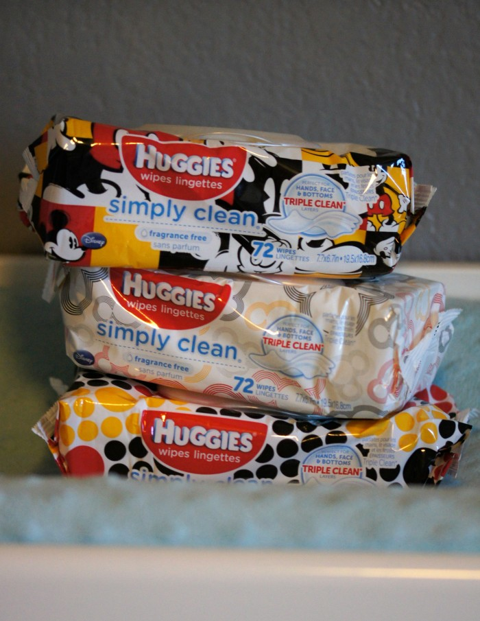 Huggies Wipes on the Changing Table