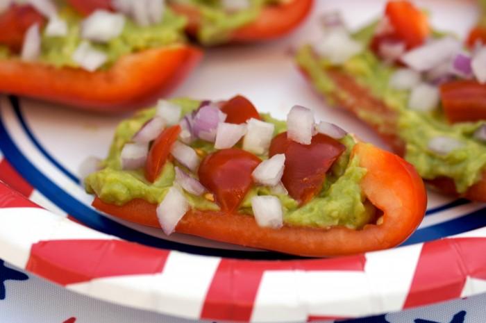 Summer Veggie Nachos are a Paleo + Primal Friendly veggie-filled take on nachos! Super refreshing and much more bikini-season friendly!