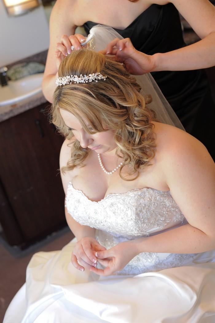 Wedding hair photo
