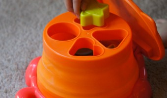 Learn Colors and Shapes with the Pop Up Shape Sorter from Playskool