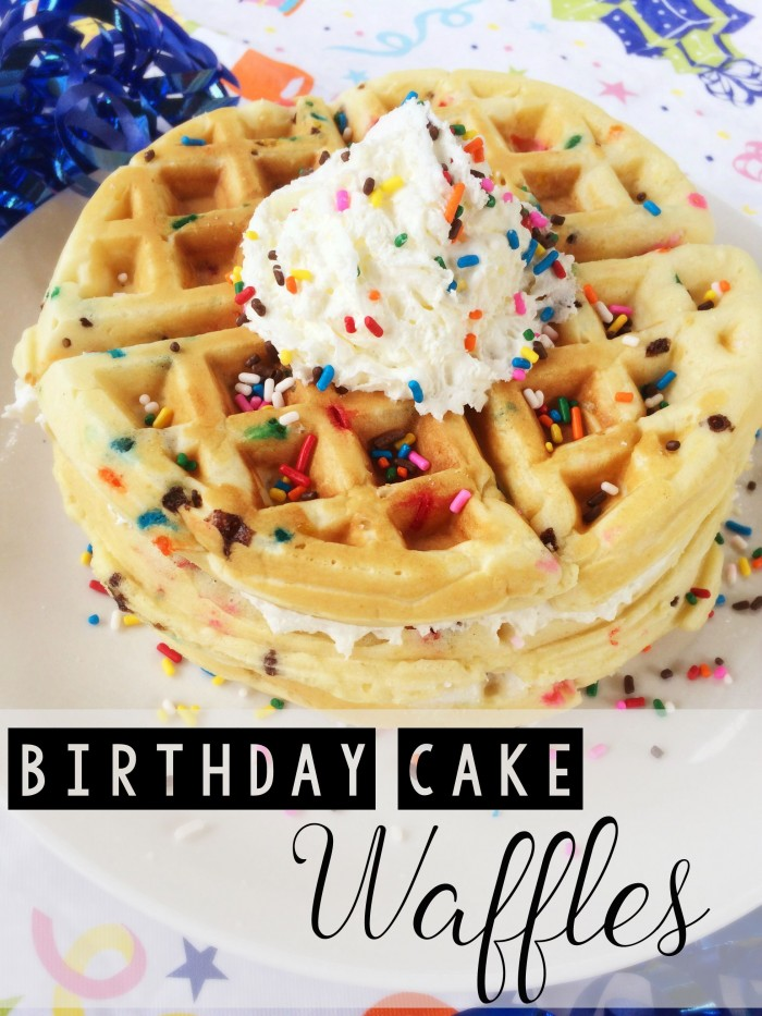 These special funfetti birthday cake waffles will put a smile on anyone's face! They're easy to make, so you can spend less time in the kitchen and more time celebrating!