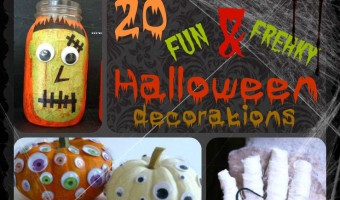 20 Fun & Freaky Halloween Decorations {That Won't Terrify Your Kids}
