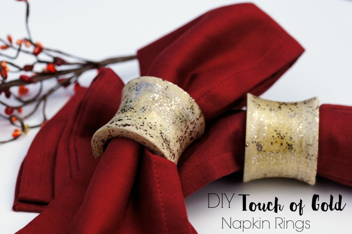 DIY Touch of Gold Napkin Rings