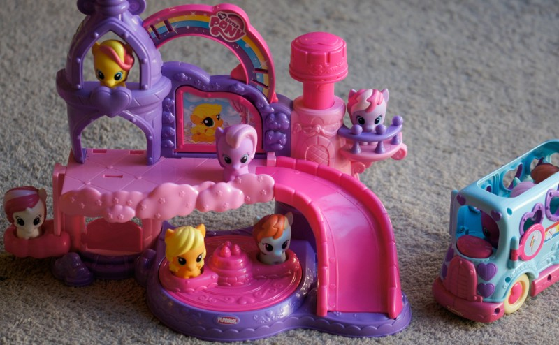 My Little Pony Castle and Bus