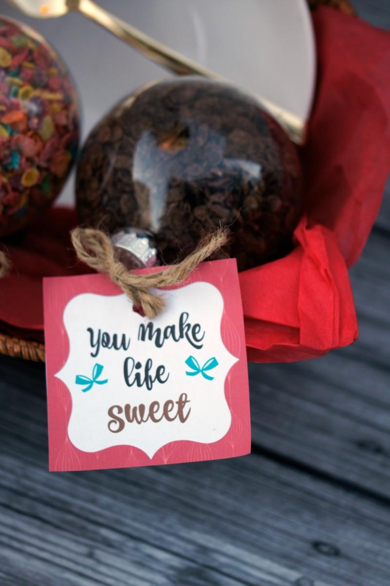 You Make Life Sweet Free Printable Gift Tag