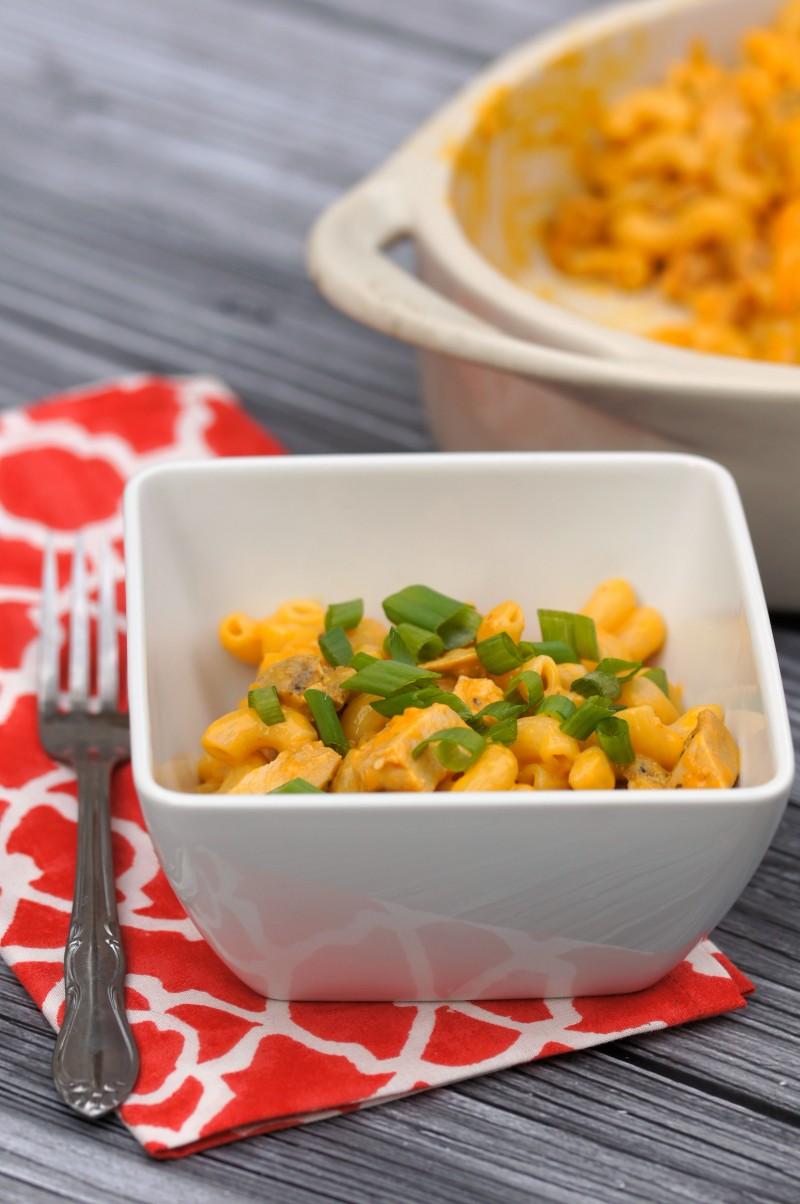 Buffalo Chicken Mac Recipe- easy weeknight meal!