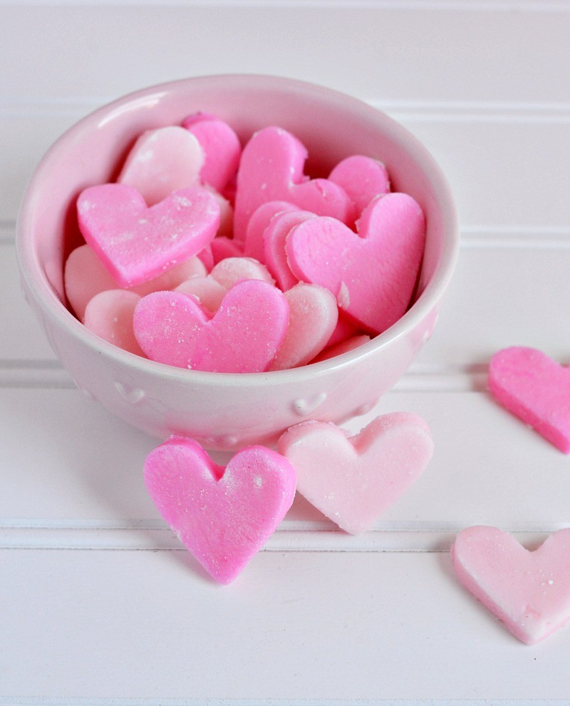Cream Cheese Heart Mints Recipe for Valentine's Day