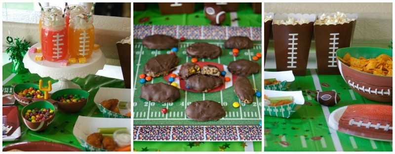 Football Party Table Spread
