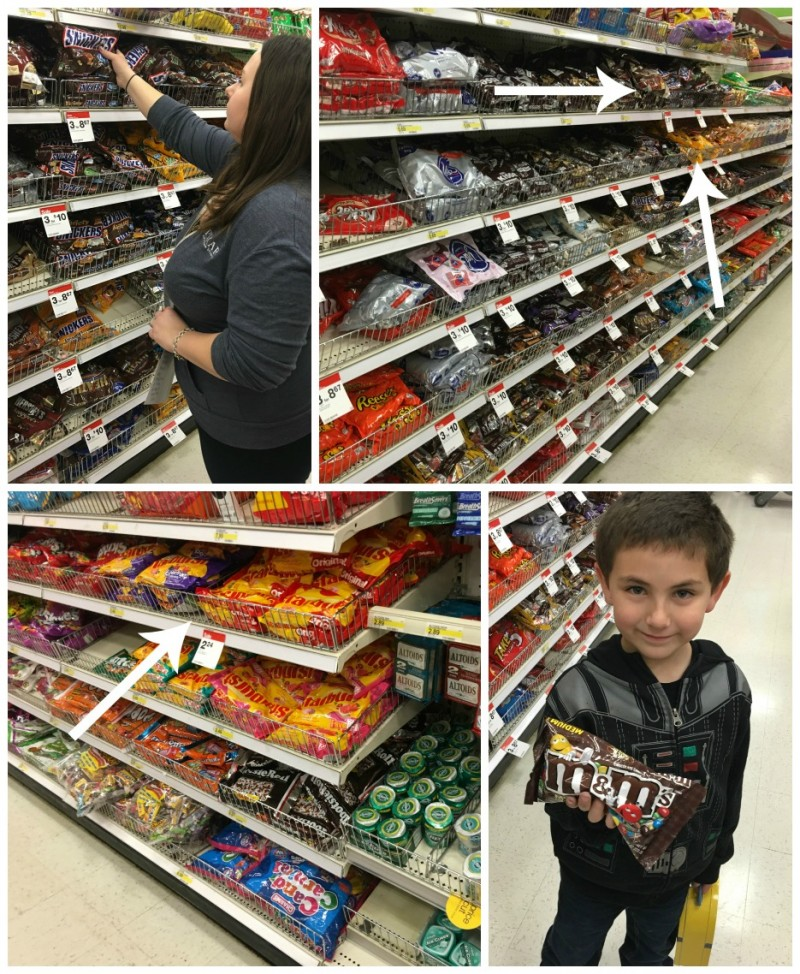 Shopping for Wrigley & Mars Candy at Target