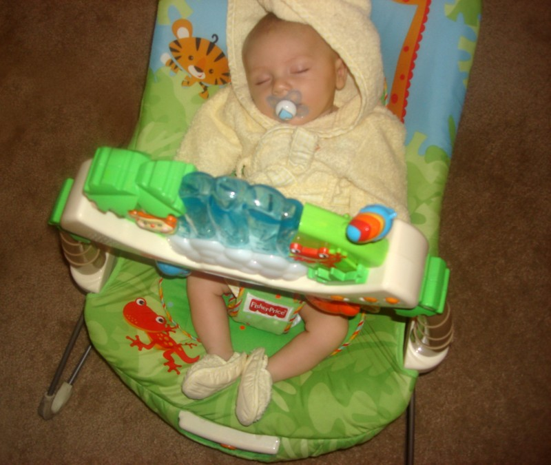 Shane in his Fisher Price bouncer in 2009!