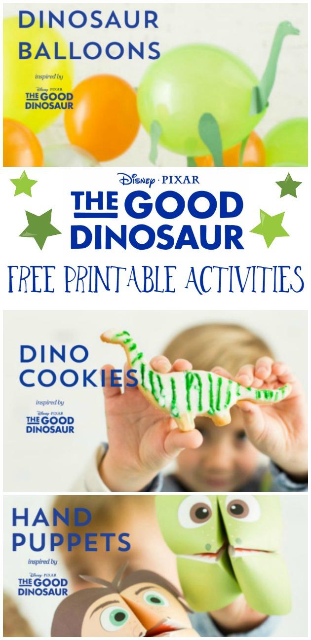 Free Printable The Good Dinosaur Activities