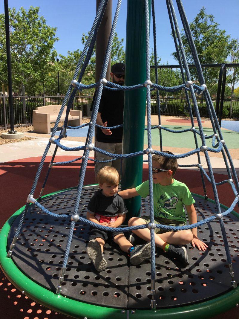 Boys on Spinning Seat