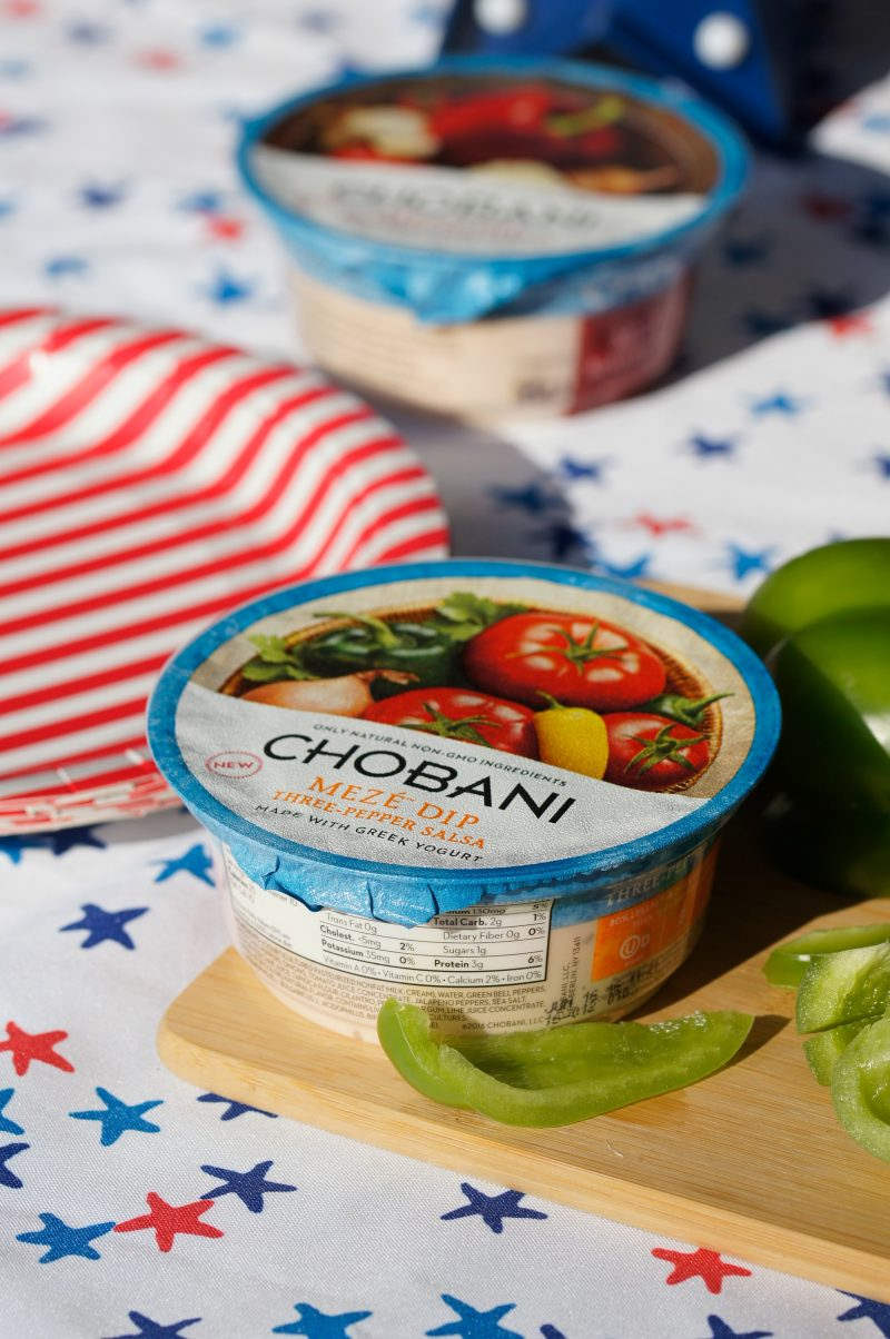 Chobani Meze Dip for Memorial Day Three Pepper Salsa