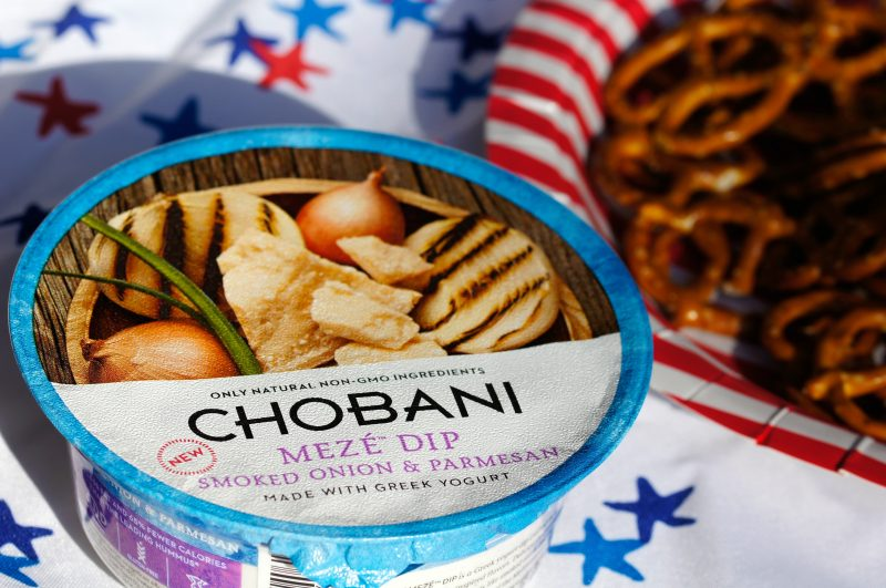 Chobani Meze Dip for Memorial DaySmoked Onion and Parmesan