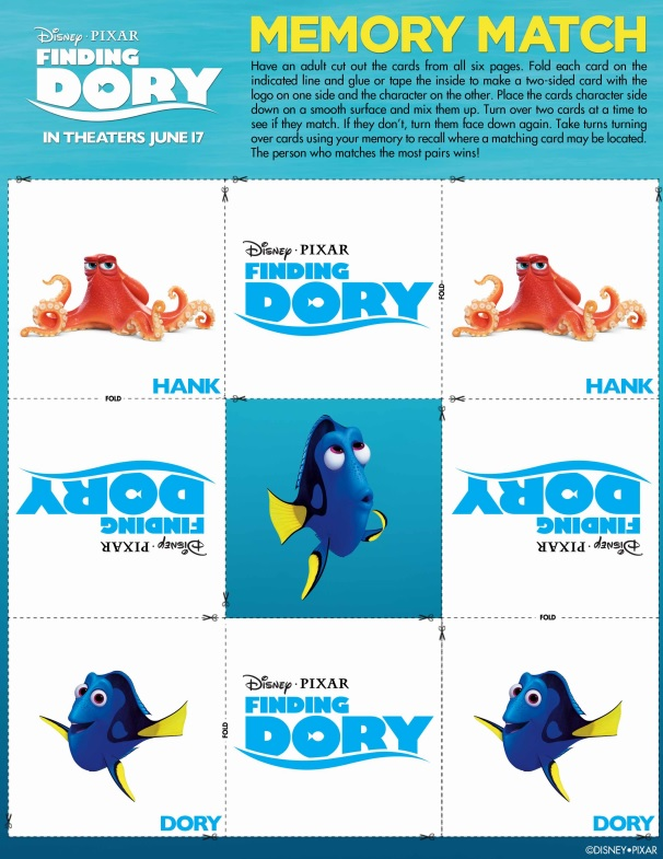 picture about Printable Memory Cards referred to as Totally free Printable Discovering Dory Memory Playing cards Activity - Not Reasonably