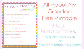 Fun Facts About Grandma Printable for Mother's Day!