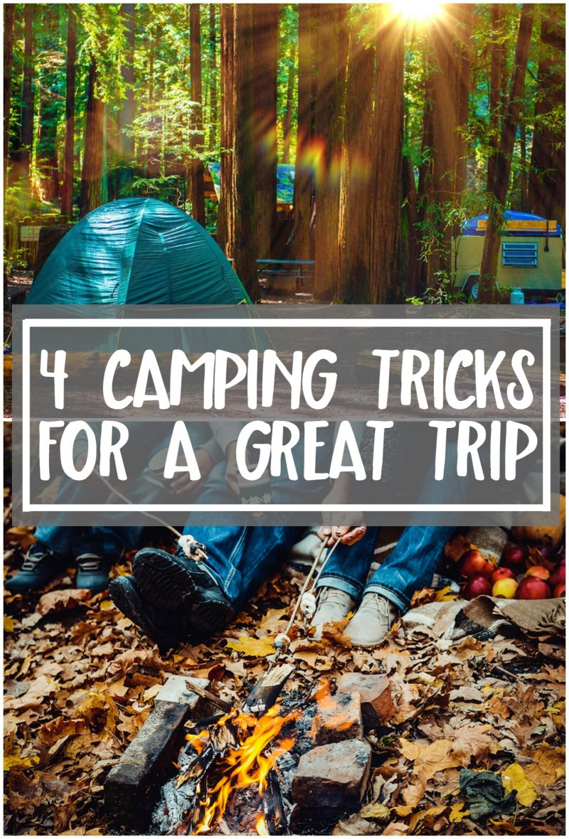 Whether it's your first time camping or you have your own travel trailer, these camping tips will make your next camping trip easier! Learn tricks and tips for packing- and a great food idea. {Especially for camping with kids!}