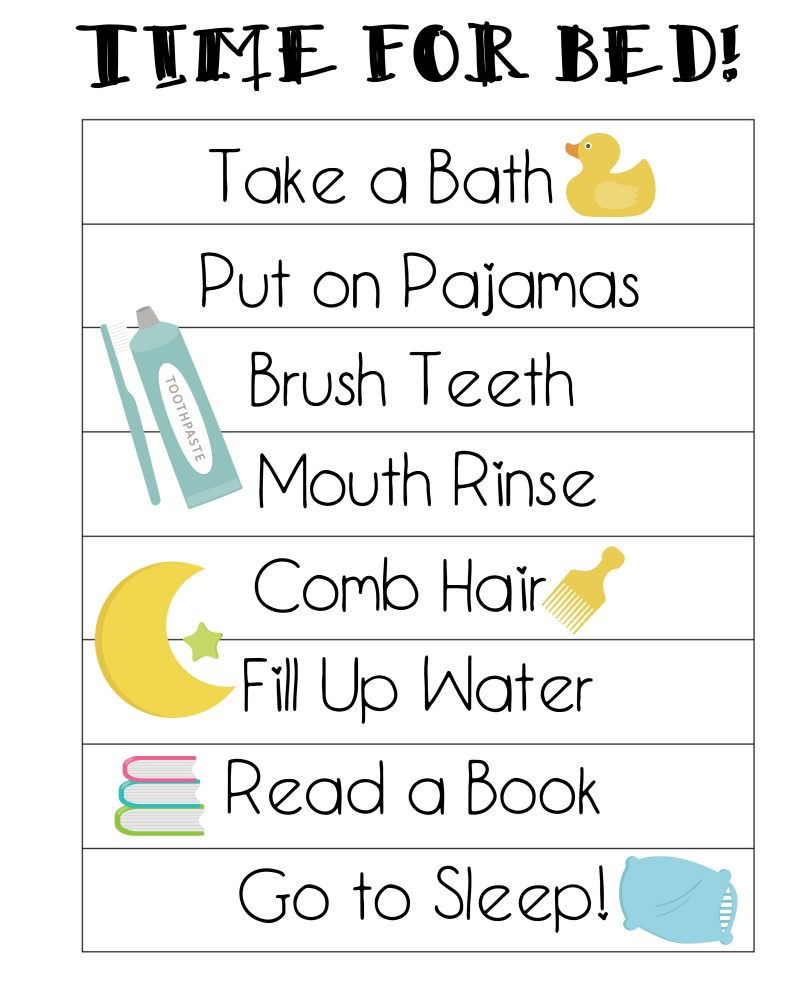 graphic regarding Children's Routine Charts Free Printable known as Cost-free Printable Bedtime Workout routines Chart - Not Fairly Susie