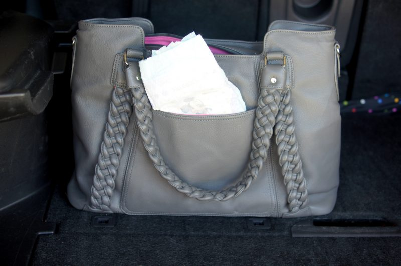 Huggies in bag