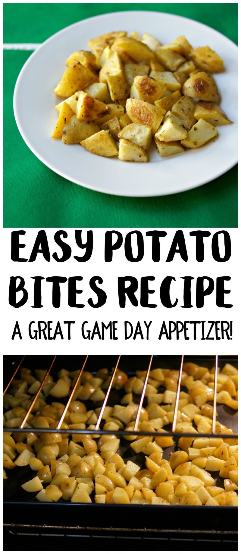 If you're looking for great football party food or appetizers for parties for large families, you can't go wrong with these Easy Potato Bites! This recipe is simple to make and quick, too, so you can spend more time at the party! {ad}