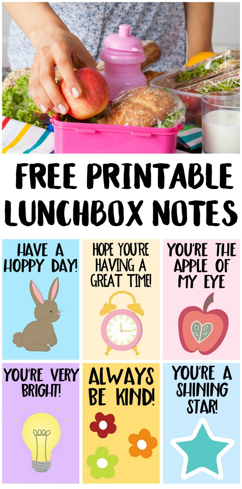 Back to school means back to school lunches! These free printable lunchbox notes will have boys and girls smiling every time they open their lunchbox- and your kids will know mom packed their lunch with a little extra love.