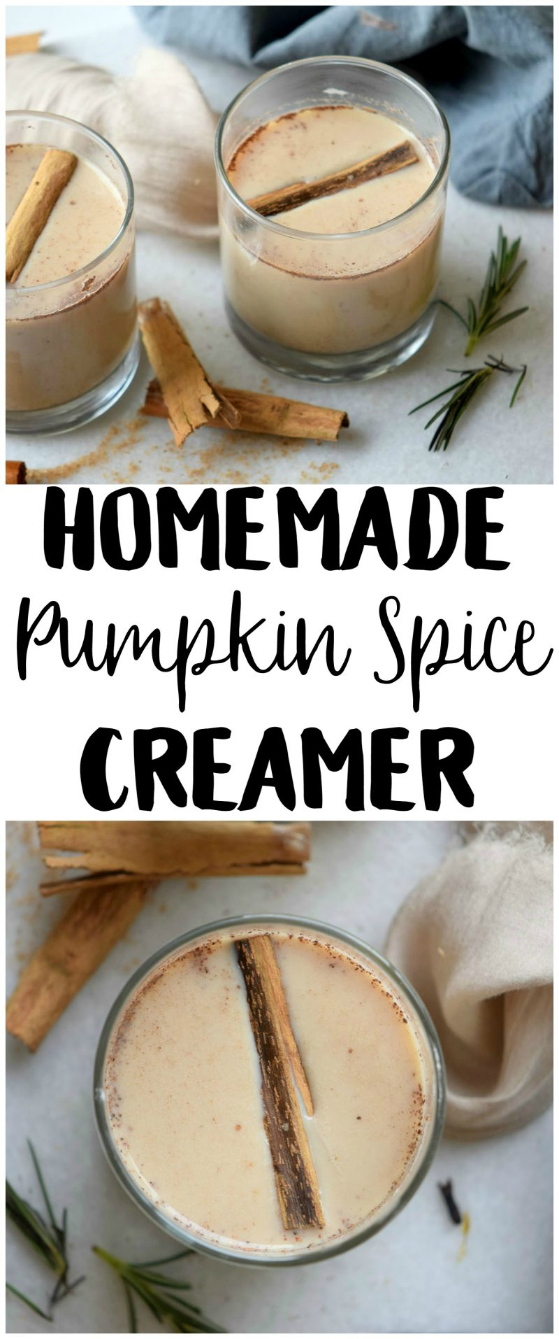 If pumpkin spice lattes are the highlight of your fall {same}, you have to try this easy DIY homemade coffee creamer recipe! It's cheaper and faster than hitting the drive through for a PSL all the time and tastes SO good.