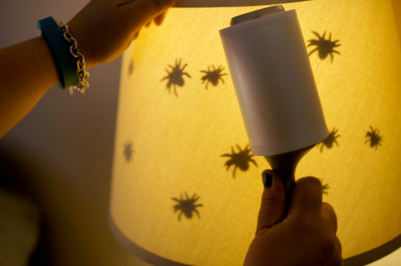 Looking for DIY Halloween decorations, crafts or project ideas? This lamp shade makeover takes just minutes and is easy enough for the kids to help with. And the best part? It's just the right amount of scary, so even the littlest trick or treaters will love it!