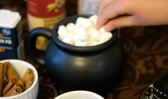 DIY Hot Cocoa Toppings Bar {with Free Printables!}