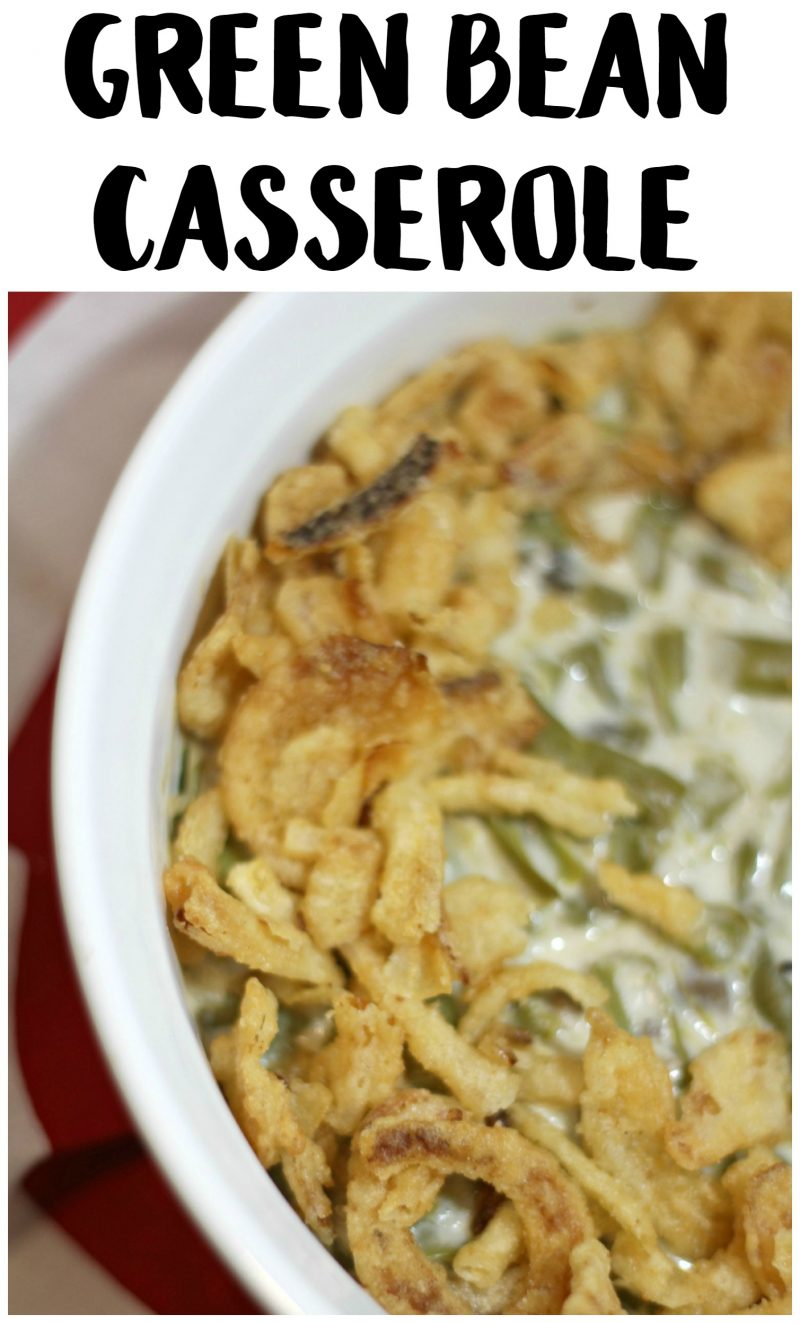 This Easy Green Bean Casserole is such a delicious recipe for a homemade classic! Everyone knows Green Bean Casserole is one of the best Thanksgiving side dishes- and this is one of the best recipes for it!