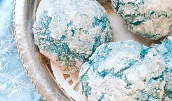 Holiday Cookies Recipe: Blue Crinkle Cookies!