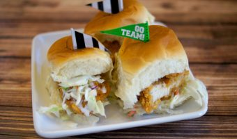 Easy Game Day Recipes: Cole Slaw Chicken Sliders and Sweet & Sour Smoked Sausage Bites