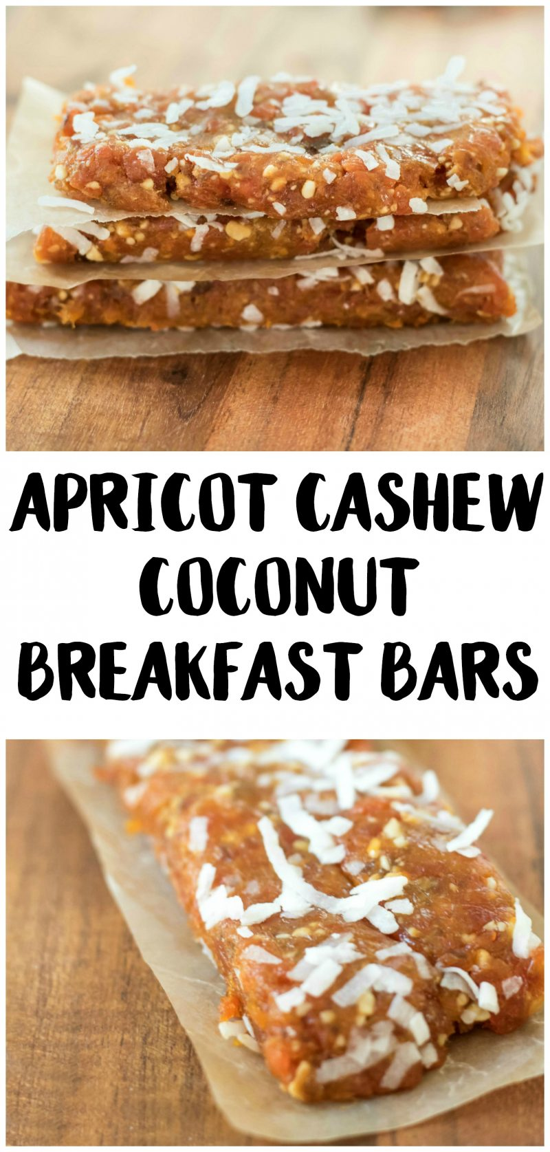 A quick breakfast can be so much more than a cup of oatmeal! These easy DIY Apricot Cashew Coconut Breakfast Bars are delicious and easy to customize- the ideas are endless! The best part is, they're even healthy!