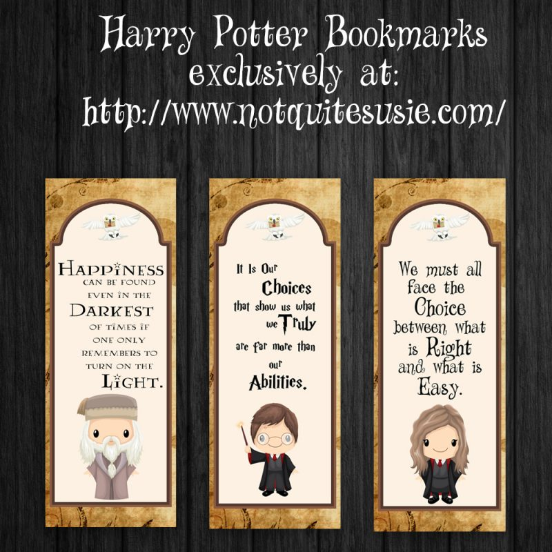 The Harry Potter series is turning 20 this year! Reread your favorites or introduce them to a new generation- and make it easier with these free printable bookmarks! They feature a few of the wisest characters and some of the best quotes to keep your mind and heart at Hogwarts.